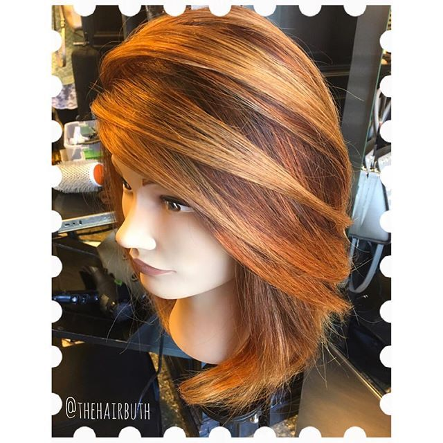 Red ❤️ Copper 💛balayage from today's Apprentice Class: Phase 2 Balayage! #nofilter #spalon #spalonmontage #salon #hayleyatspalon #thehairbuth #cosmetology #cosmetologist #hair #haircut #haircolor #color #woodburyhair #job #career #askforhayley #loreal #lorealpro #cut #hairstylist #minnesotahair #twincities #licensedtocreate #naturallight #red #copper #balayage #class #hairpainting