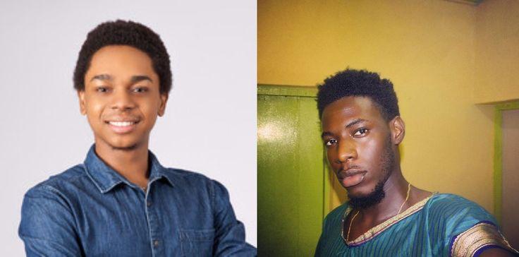 Evicted Big Brother Naija Housemates Soma & Miyonse Look Dapper As They Pose With Ebuka Obi-Uchendu