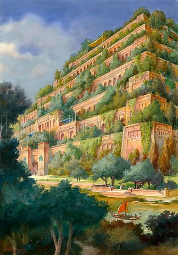 Neo babylonian empire ii the same as the period of the neo babylonian empire under for Hanging gardens of babylon definition