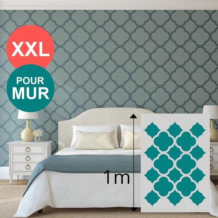 Pochoir xl g ant mural 100 x 70 cm formes g om triques cercle pour pein - Peinture pour pochoir ...