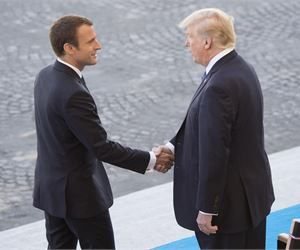 Donald Trump Says The French President 'Loves' Holding His Hand