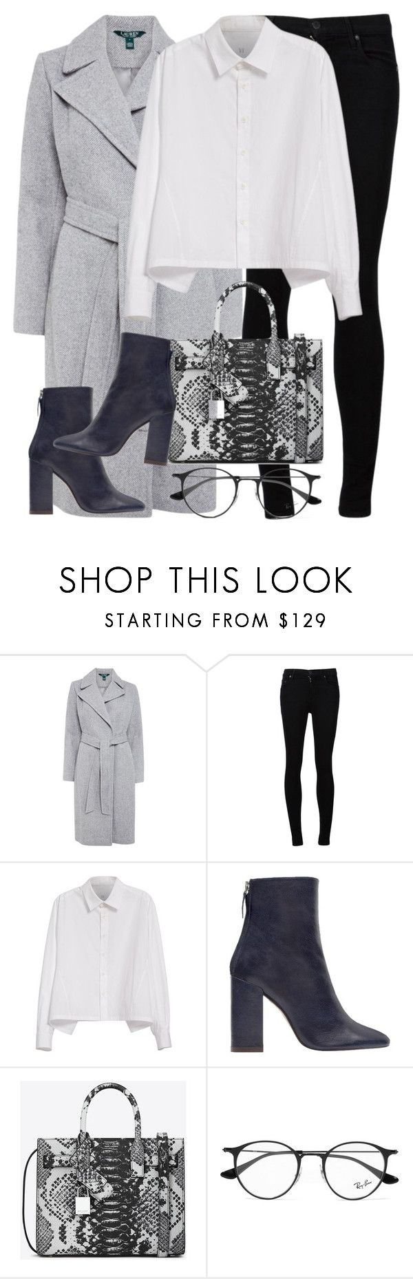 """""""Untitled #2966"""" by elenaday on Polyvore featuring Lauren Ralph Lauren, Citizens of Humanity, Y's by Yohji Yamamoto, Zara, Yves Saint Laurent and Ray-Ban"""