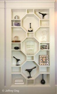 cool geometric bookshelf