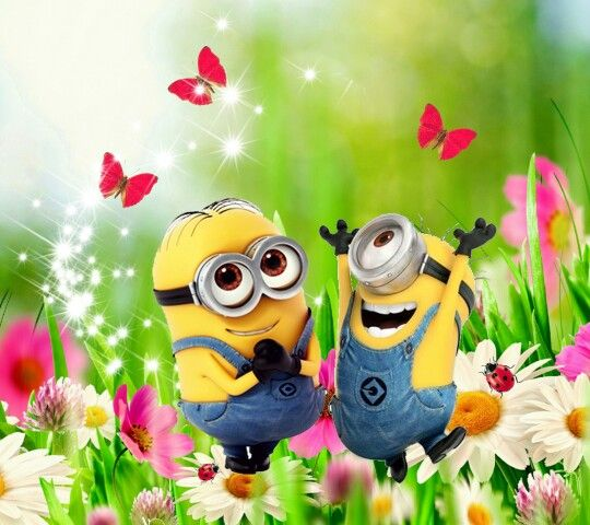 Minions in spring