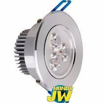 Spot Embutir Led 3w Aluminio Movible 220v Luz Solo Fria