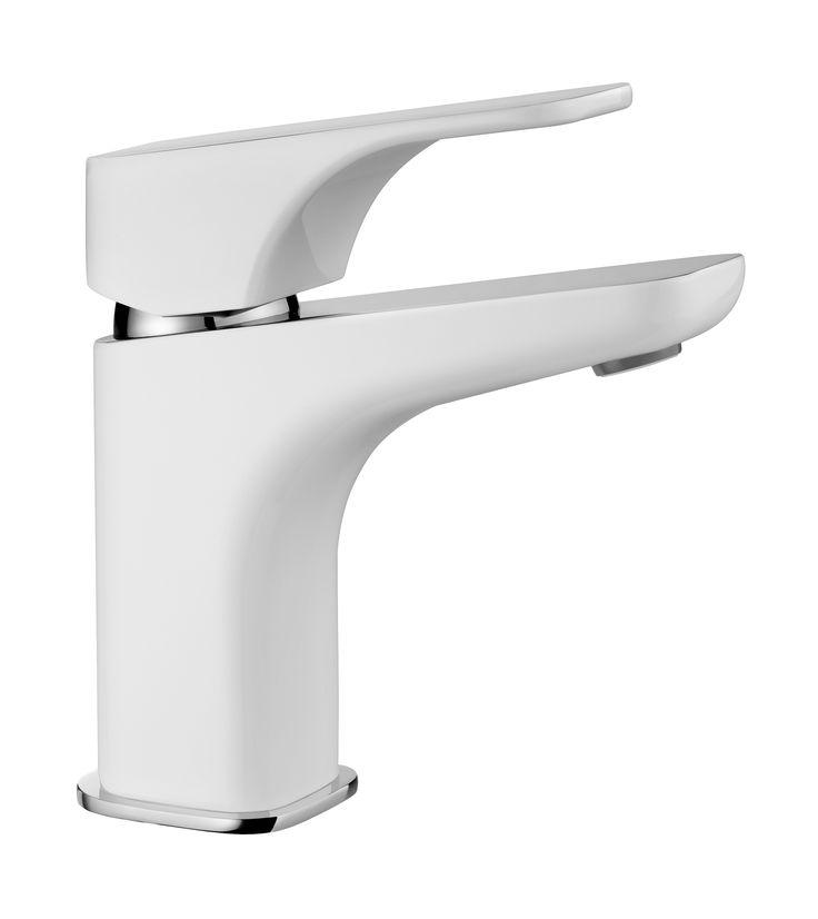Hiacynt washbasin mixer, chrome/white, Deante