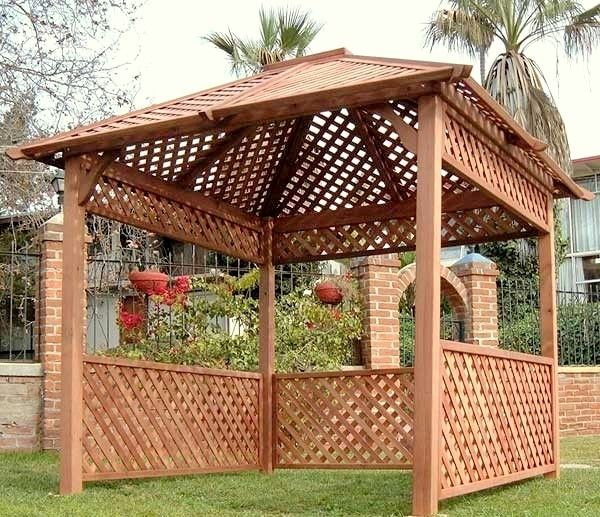 Pergola Designs With Lattice: Lattice Gazebo - Redwood Gazebos