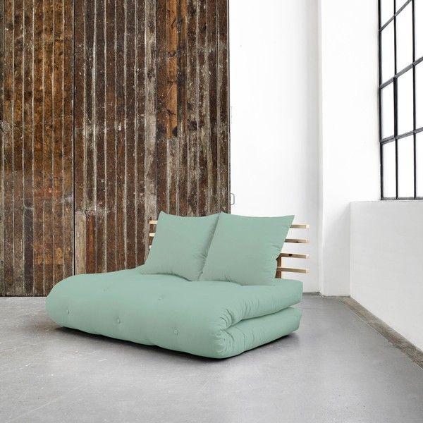 Canapea extensibilă Karup Shin Sano Natural/Peppermint în