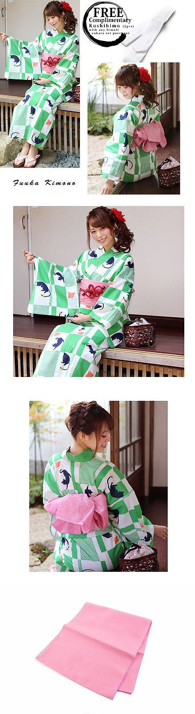 Kimono 155244: (X4751b)Japanese Ladies Summer Kimono - Yukata And Obi Belt Set Of 2 - Brand New -> BUY IT NOW ONLY: $63 on eBay!