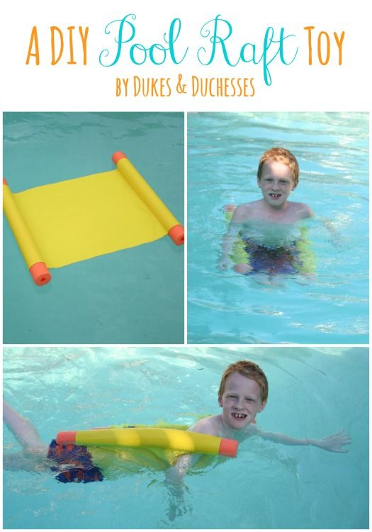 DIY Pool Raft, super fun for summer swimming and relaxing! @rdukes #DIY #poolraft