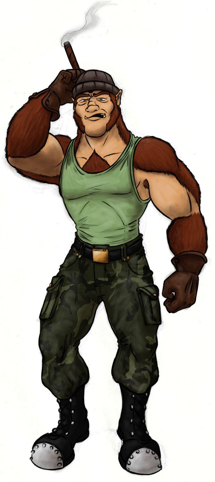 Johnny tiene dos diseños, una como humano y otra como hombre lobo.