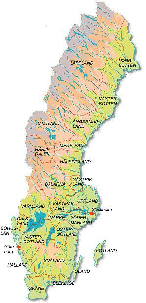 Links and contact info for regional genealogical societies in Sweden