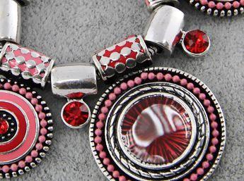Naszyjnik czerwono-różowy