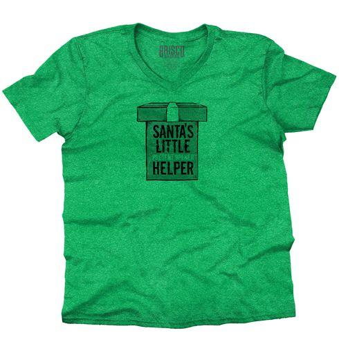Santa's Little Helper V-Neck T-Shirt
