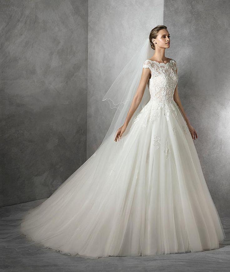 Tamira, princess wedding dress with gemstone embroidery