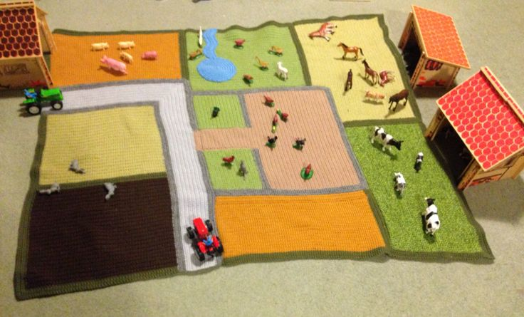 Farm Play Mat for Bea's 2nd birthday