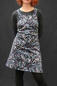 short apron dress floral