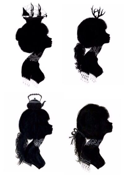 Collection of Silhouettes of girls