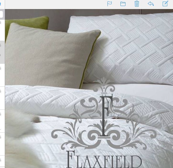 Need a new duvet cover Flaxfield's pure white is gorgeous ,luxurious and easy to launder. Also available in soft grey. When it is hot you can take duvet and use as cover.