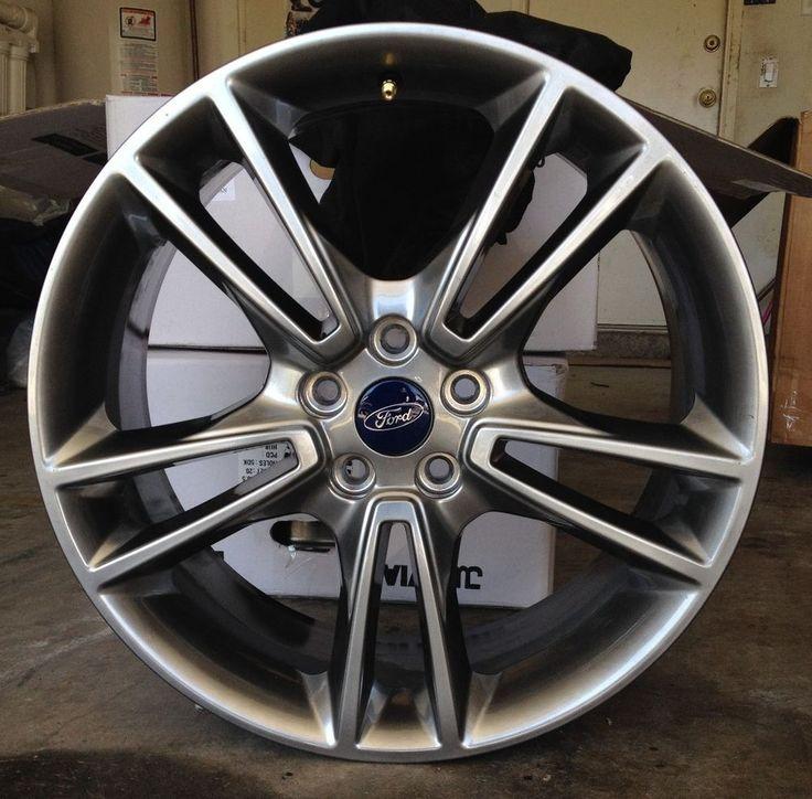"Full Set (4) Ford Fusion Titanium 19"" Dark Stainless H"