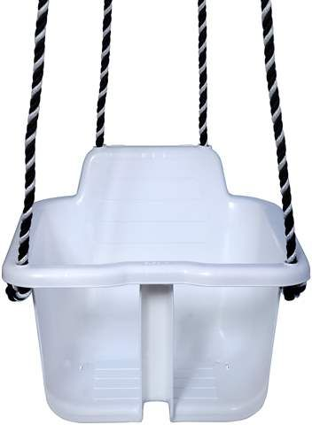 Hvit babyhuske fra Plasto. I denne husken sitter babyen trygt og bekvemt. Kan vaskes i oppvaskmaskin. Høyde: 26 cm Bredde: 35 cm Maksvekt: 30 kg