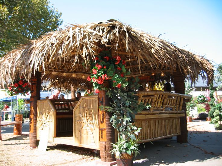 12 best tiki huts images on pinterest tiki hut bamboo for Kit homes hawaii