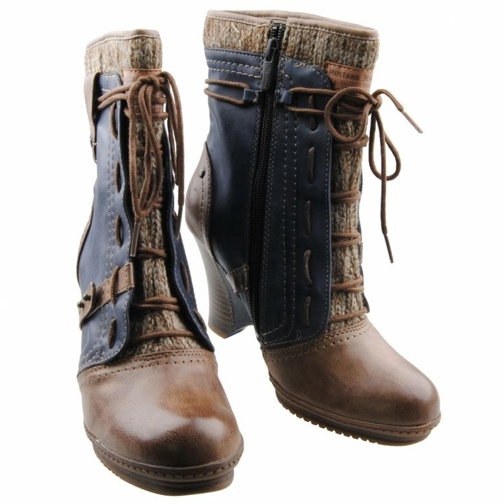 NEU Mustang Damenschuhe Schuhe Stiefelette Stiefel Damenstiefel Wedge Ankle Boot   eBay