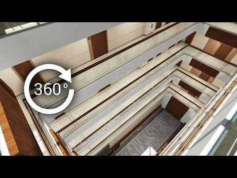 360° - 3D render   Интерьер   Апарт-отель   Атриум. Вид 4 - YouTube