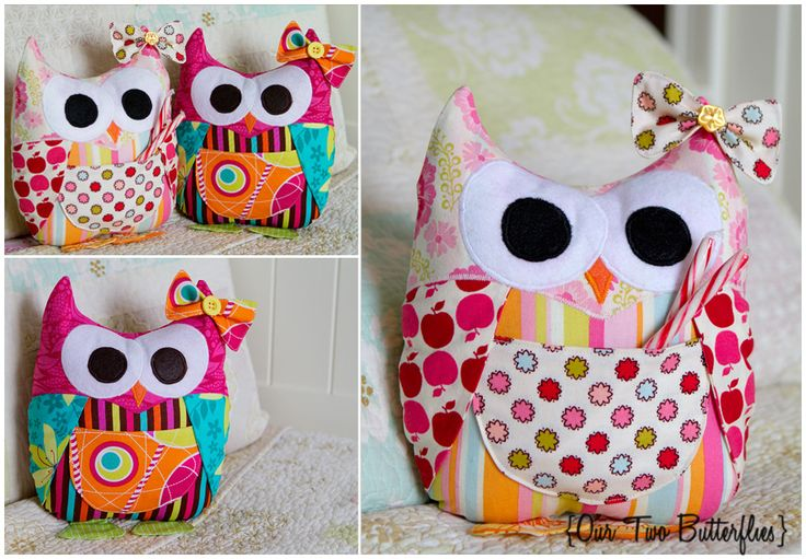 Hoot Hoot! Owl Tooth Fairy Pillow Pattern by Modkid Blogged: http://ourtwobutterflies.org/hoot-hoot-mod-owl-stuffie/