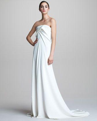 Donna Karan Strapless Bustier Gown - Neiman Marcus