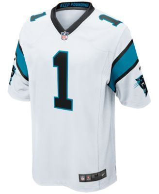 Nike Men's Cam Newton Carolina Panthers Game Jersey - White XXL