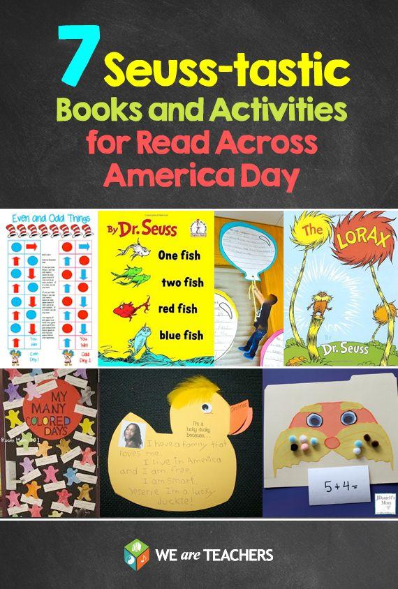 7 Dr. Seuss Books lesson ideas for read Across America Week.