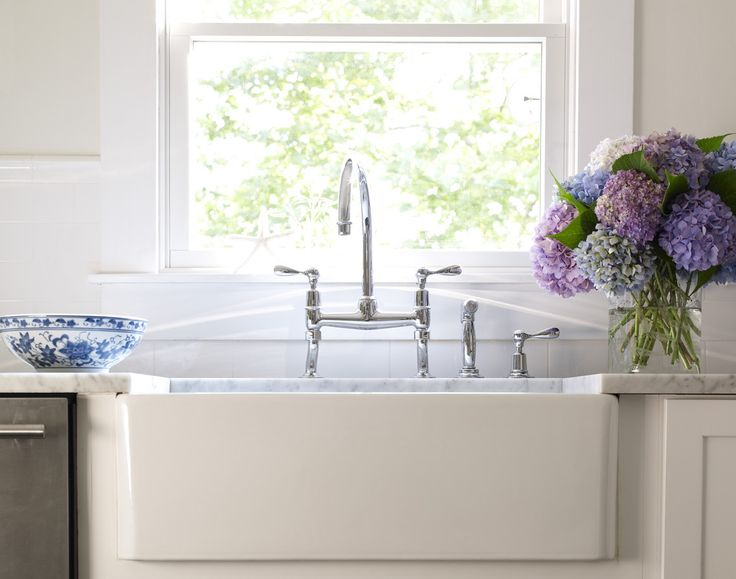 Waterworks Easton Faucet in Bella Mancini Kitchen | Remodelista