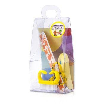 Tweezerman Accessories Childrens Care Kit: Baby Nail Clipper+ Baby Nail File+ Nail Brush+ Baby Nail Scissors