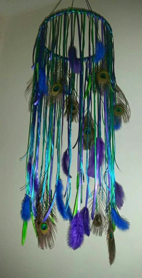 Krissy Jay's ~ Peacock spiral dreamcatcher