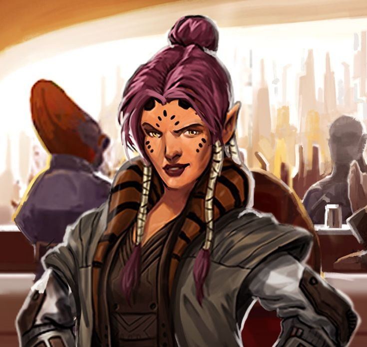 Kada Jahr, Female Devaronian, head of security of Jabba the Hutt between the Battle of Yavin and the Battle of Hoth