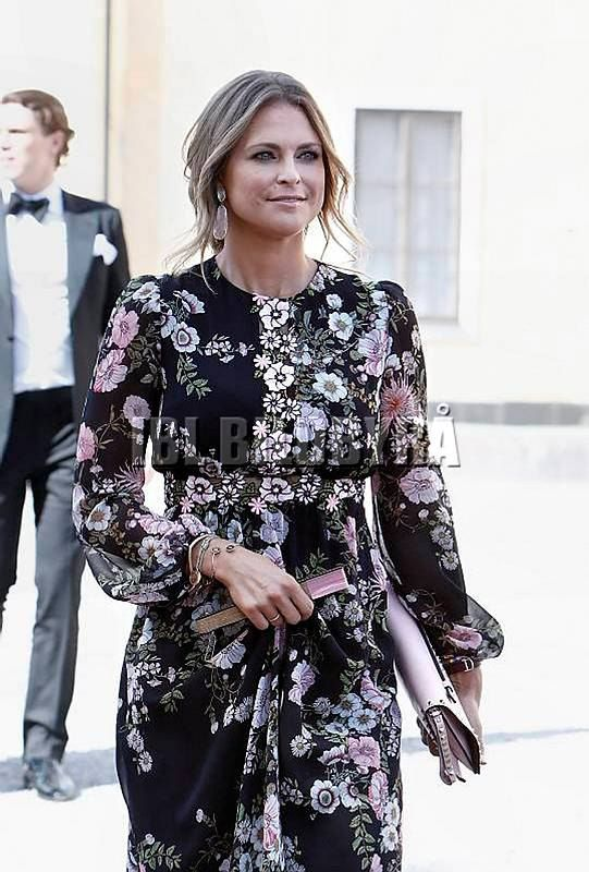 June 2017 - Swedish Royals attend a wedding - dress by Giambattista Valli