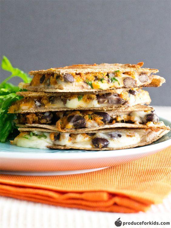 Vegetarian Quesadilla Recipe, Sweet Potato & Black Bean Quesadilla | Produce For Kids