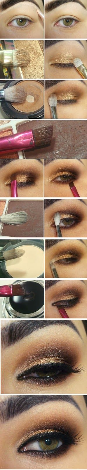 Gold and Brown Inspired Makeup Tutorials - Step by Step / Best LoLus Makeup Fashion #coupon code nicesup123 gets 25% off at www.Provestra.com www.Skinception.com and www.leadingedgehealth.com