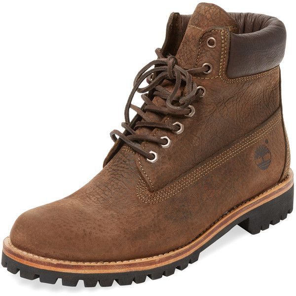 Timberland Timberland Men's Heritage Rugged LTD Waterproof Boot - Dark... ($119) ❤ liked on Polyvore featuring men's fashion, men's shoes, men's boots, dark brown, mens waterproof shoes, mens high tops, mens rugged shoes, mens platform boots and mens high top shoes