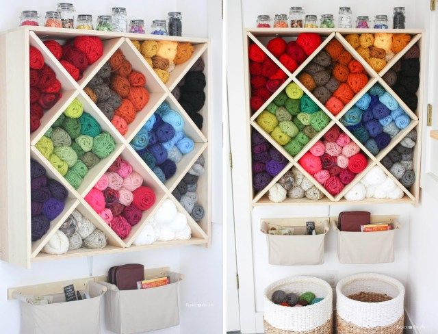 Knitting Supplies Storage Ideas : Best images about knitting craft room on pinterest