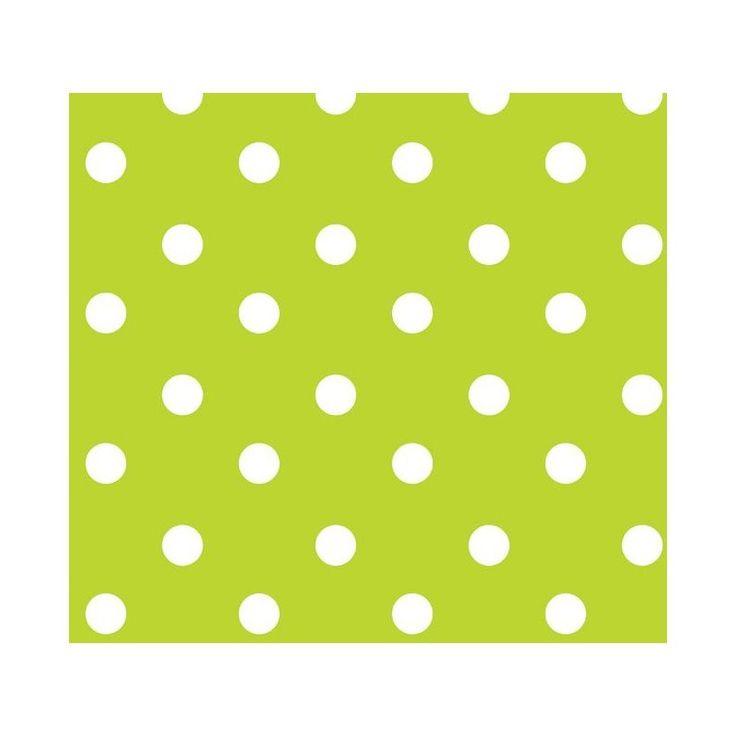 Tafelzeil Stip Lichtgroen - Lichtgroen tafelzeil met witte polkadot stippen. Het tafelzeil in niet geweven tafelzeil, waarbij de onderkant is gemaakt van een soort vlies wat lijkt op vilt, en de bovenkant is gemaakt van PVC. Houd uw tafelkleed gemakkelijk schoon met een vochtige doek. Ideaal voor mensen met kinderen.