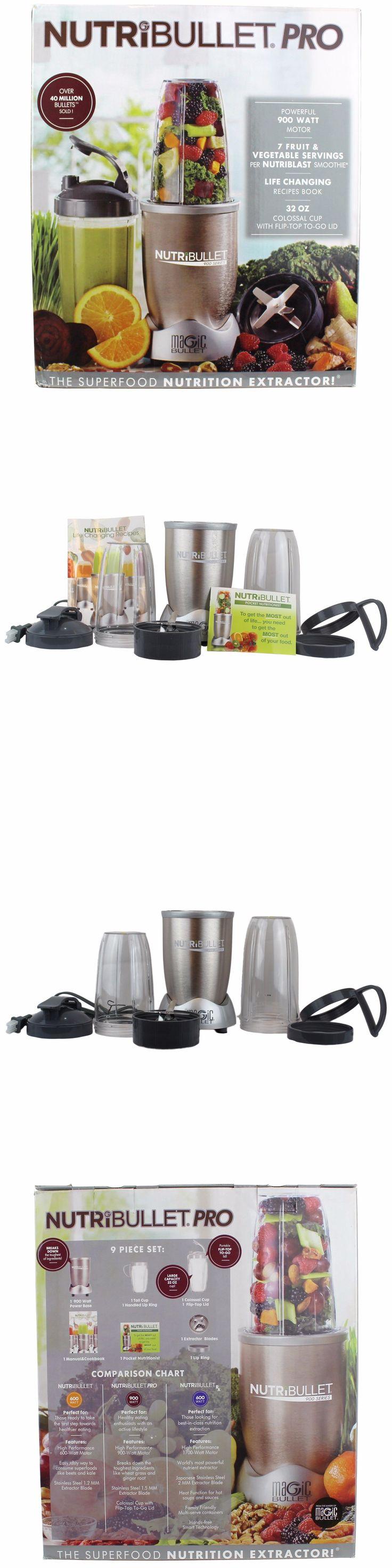 Small Kitchen Appliances: Nutribullet 9 Piece Pro 900 Hi-Speed Blender Mixer Set Nb9-0901 -> BUY IT NOW ONLY: $75.99 on eBay!