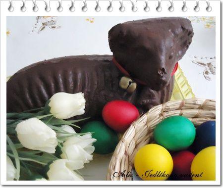 můj piškotový velikonoční beránek #recipe #czech #easter #meal #egg #spring #beranek #velikonoce