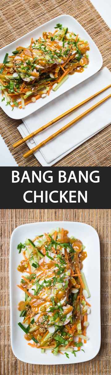 Bang Bang Chicken - {NEW RECIPE} Never order Bang Bang Chicken at a restaurant again! Learn how to make this famous Asian inspired salad recipe at home at a fraction of the price.