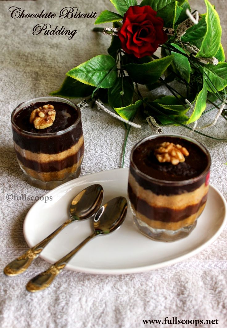Easy no-bake-Chocolate-Biscuit-Pudding