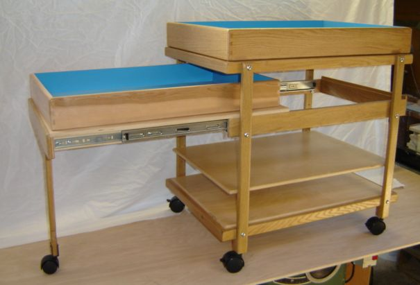 Sandtray Cart w/ Slide Out Unit | Ron's Trays