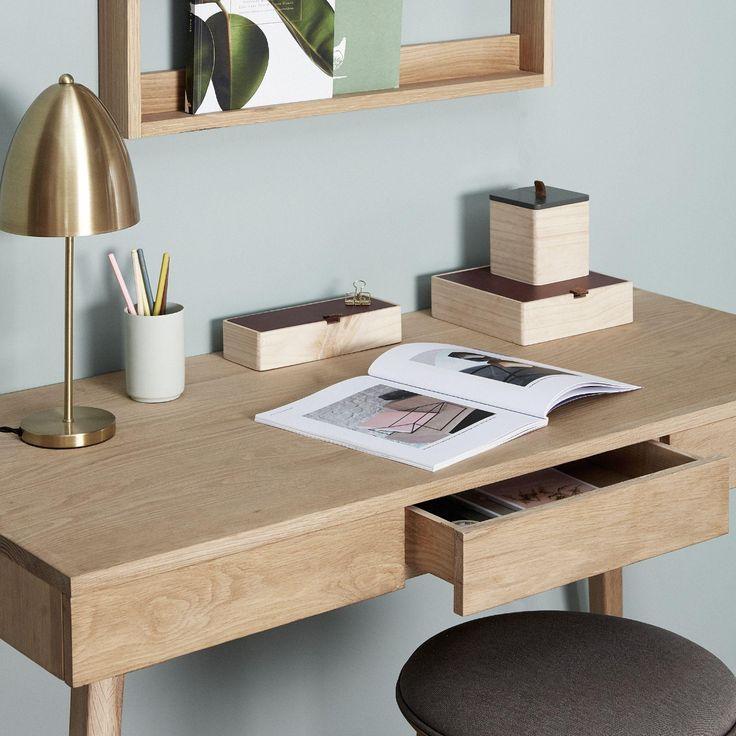 Skriveborde i egetræ til kontor og hjem | fra Hübsch Interiør