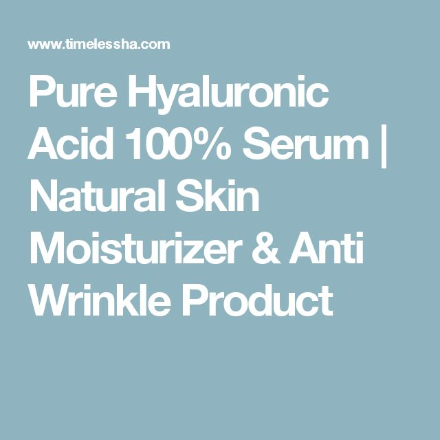 Pure Hyaluronic Acid 100% Serum | Natural Skin Moisturizer & Anti Wrinkle Product