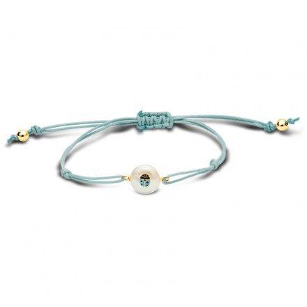 Pearly Ladybug Bracelet